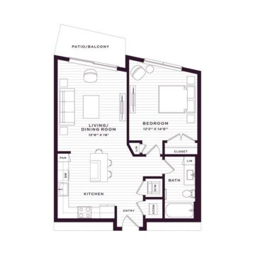 Apartment 1660 floor plan