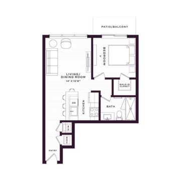 Apartment 1130 floor plan