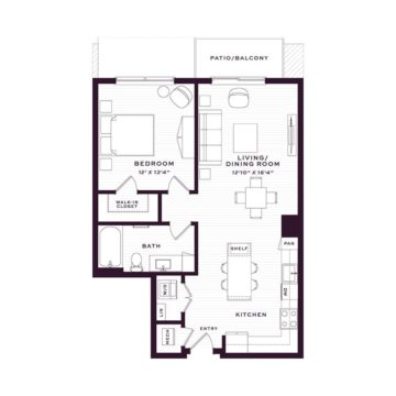 Apartment 1450 floor plan