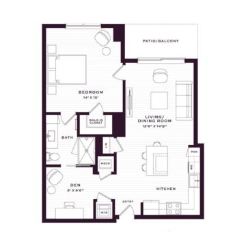 Apartment 1405 floor plan