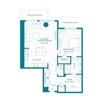 Apartment 3750 floor plan