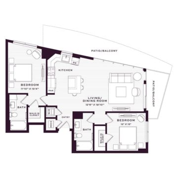 Apartment 1680 floor plan