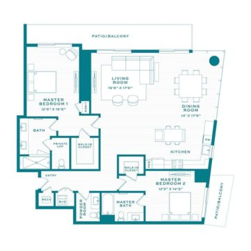 Apartment 3700 floor plan