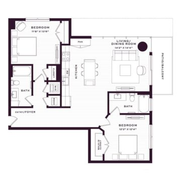 Apartment 1090 floor plan