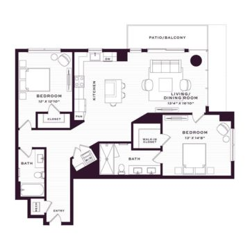Apartment 1010 floor plan