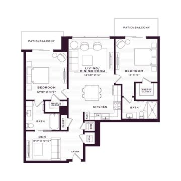 Apartment 3730 floor plan