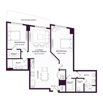 Apartment 3720 floor plan