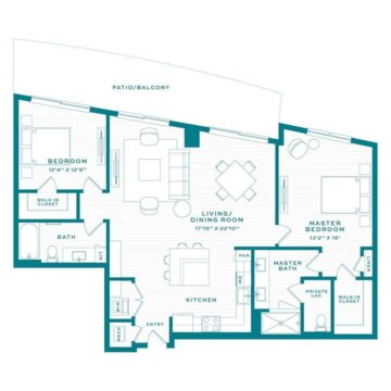 Apartment 3740 floor plan