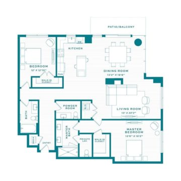 Apartment 3710 floor plan