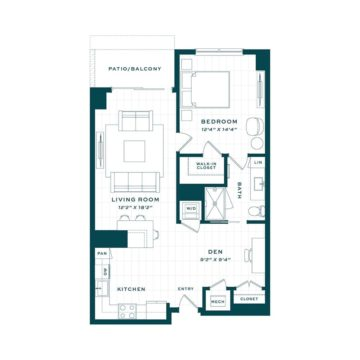 Apartment 150 floor plan