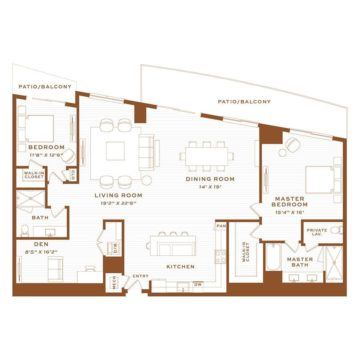 Apartment 4320 floor plan