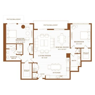 Apartment 4330 floor plan