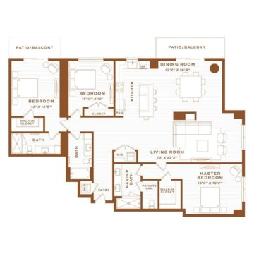 Apartment 4310 floor plan