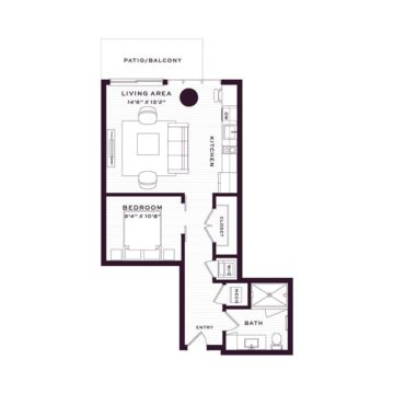 Apartment 970 floor plan